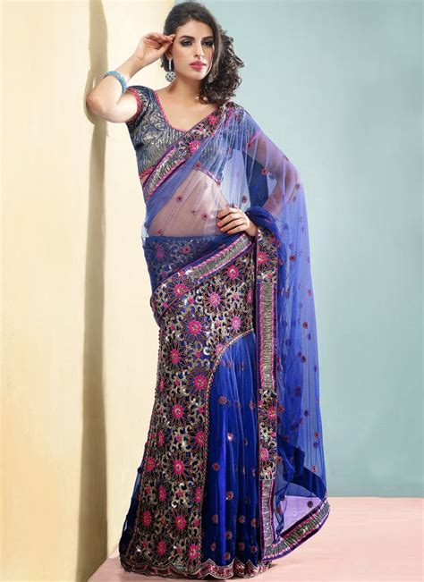 embroidery sarees online shopping | Stylish Indian Actress