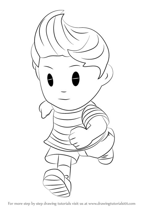 Learn How to Draw Lucas from Super Smash Bros (Super Smash