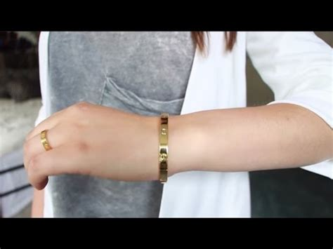 FAKE FRIDAYS: Cartier Love Bracelet and Ring Dupe 3$ - YouTube