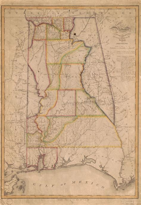 Map of Alabama constructed from the surveys in the General