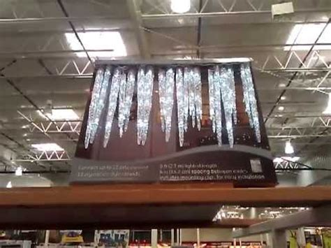 GE Twinkling LED Icicle Lights Costco - YouTube