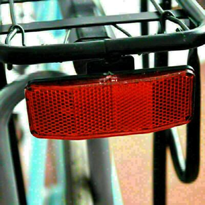 Bicycle MTB Bike Safety Red Warning Reflector For Disc