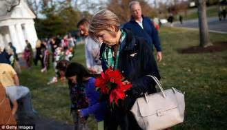 Touching footage of the ceremony held at Arlington