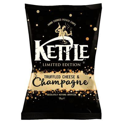 KETTLE Truffled Cheese & Champagne Chips 135g - Coopers Candy