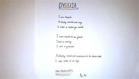 Child's poem about Dyslexia brings grown man to tears