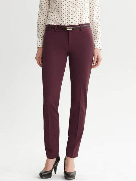Banana Republic Sloan Fit Slim Ankle Pant in Red (winter