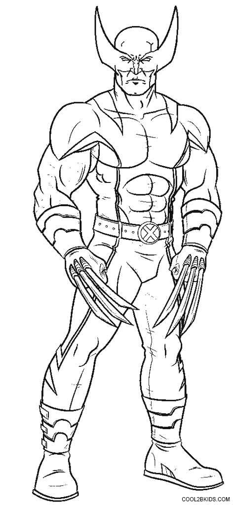 Wolverine Coloring Pages | Coloring book pages, Avengers