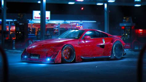 Download wallpaper nissan, 350z, red, color, future