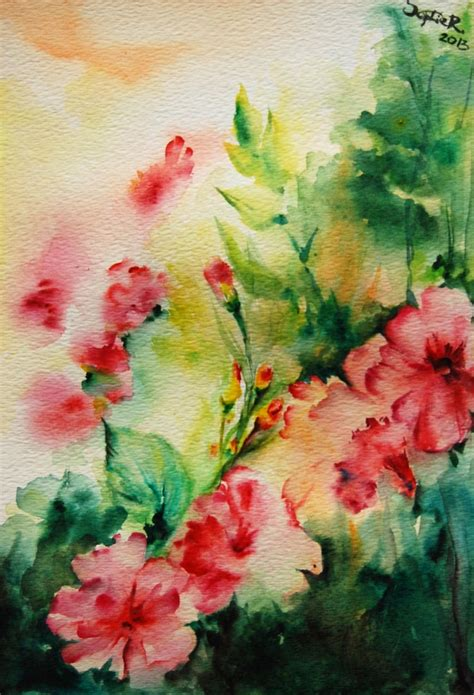 Abstract Watercolor Paintings Of Flowers Part 1 - We Need Fun