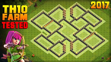 Clash of Clans   TH10 Farming Base 2017   TESTED IN
