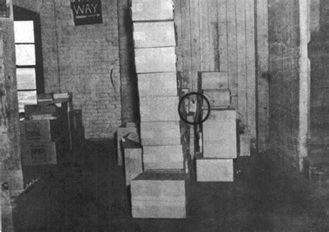 Boxes on 6th floor of Texas School Book Depository (sniper