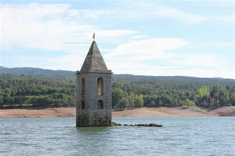 Five Submerged Towers: The Only Survivors of Their Flooded