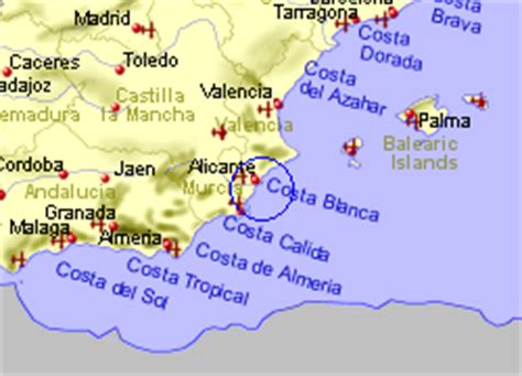 Map of the Ciudad Quesada area, fully zoomed out