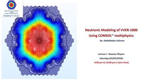 Nuclear Reactor Calculations Using Comsol Multiphysics