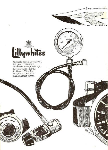 CLASSIC DIVING BOOKS - Lillywhite Catalogs, Equipment