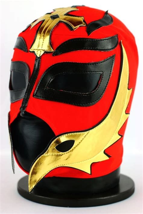 REY RED Adult Mexican Wrestling Lucha Libre Luchador Mask
