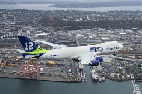 Photos: Boeing celebrates Seattle Seahawks with special